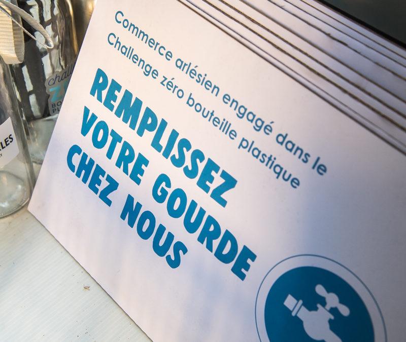 Lancement du Challenge zéro bouteille plastique et inauguration de la Cantine végétale espace Van Gogh Arles
