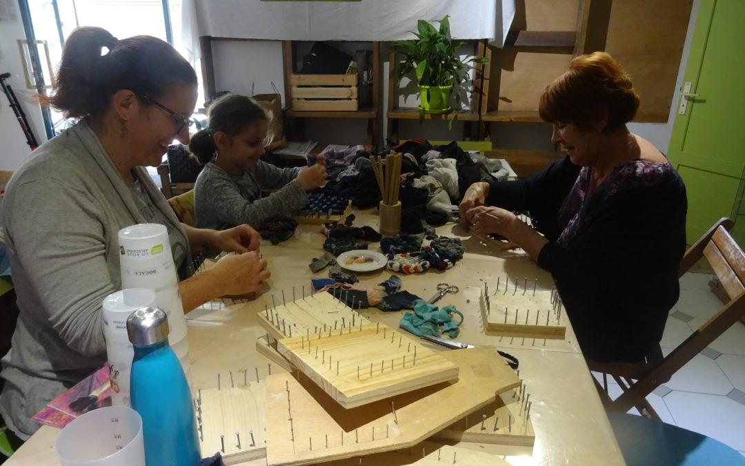 Atelier tawashi-furoshiki à Bocal & co, avec Collecteurs de déchets et ZDPA